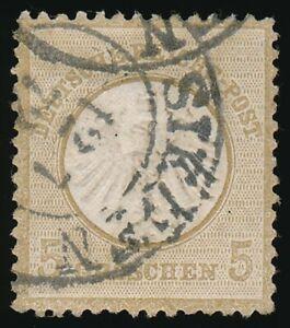 D.Reich Nr. 6 gestempelt K2 SIEGEN 12 7 72, 5 Gr. kleiner Schild (66078)