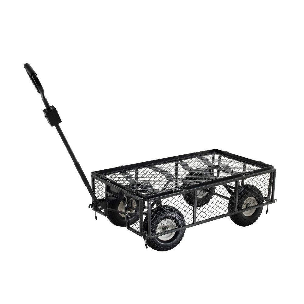 Power Systems Heavy-Duty UTILITY CART Drop Down Sides  12  Tires 1000 lb Capacity  welcome to buy