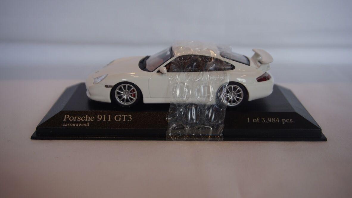 VERY RARE Minichamps Porsche 911 GT3 2003 White 1 43