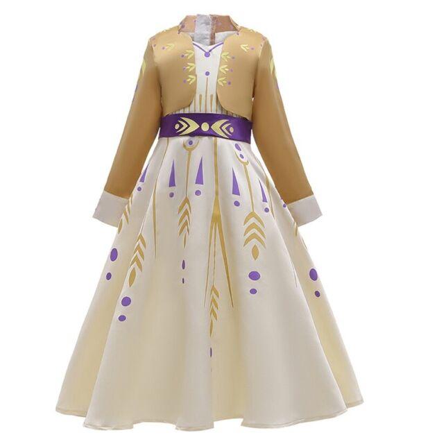 NWT Girls Rapunzel Princess Dress Cosplay Costume party Birthday dress O31B