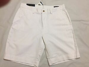 "Polo Ralph Lauren White Classic Fit 9/"" Chino Shorts NWT"
