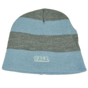 timeless design 9edb8 48e14 Image is loading NCAA-Yale-Bulldogs-Striped-Knit-Beanie-Baby-Blue-