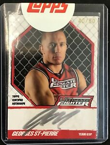 2010 Topps UFC Knockout Ultimate Fighter Autographs #TUF-GSP Georges St-Pierre