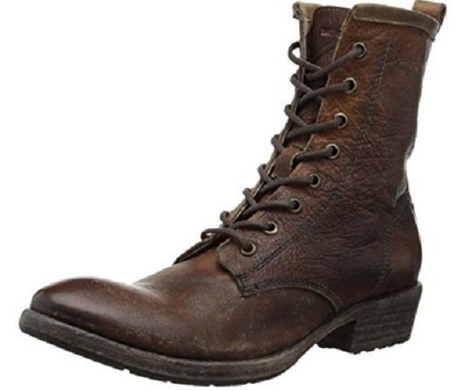 New in Box Frye Womens Carson Lug Lace Up Cognac 76208 Antiqued Size 6 Medium