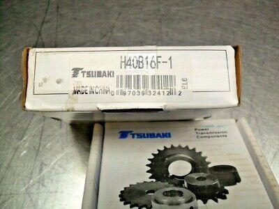 "TSUBAKI H40B18F-1 Sprocket 1/"" Fixed Bore NIB FREE SHIP"