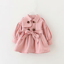 7b397c4ef Autumn Winter Clothes Baby Girl Toddler Kids Windbreaker Outerwear ...