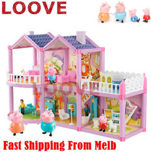 Peppa Pig Play Set Playground Car figures Xmas Gift Kid Toy Children Characters