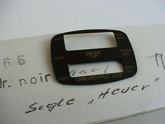 Heuer Chronosplit LCD Uhr Cal 102 gold, Modell 102.705 Zifferblatt NOS perfekt