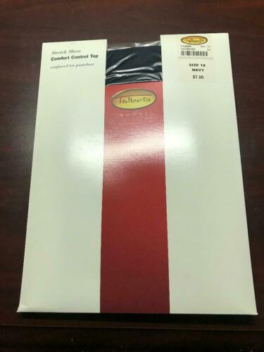 Talbots Comfort Control Top Pantyhose Reinforced toe Size 1 X Navy NEW