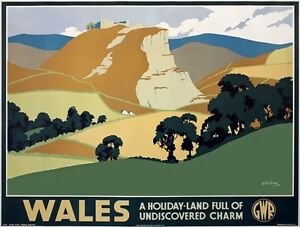 TX434-Vintage-British-Wales-Holiday-GWR-Railway-Retro-Travel-Poster-A2-A3-A4