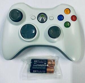 Microsoft-Xbox-360-Wireless-Controller-Remote-Black-white-034-USA-Seller-034