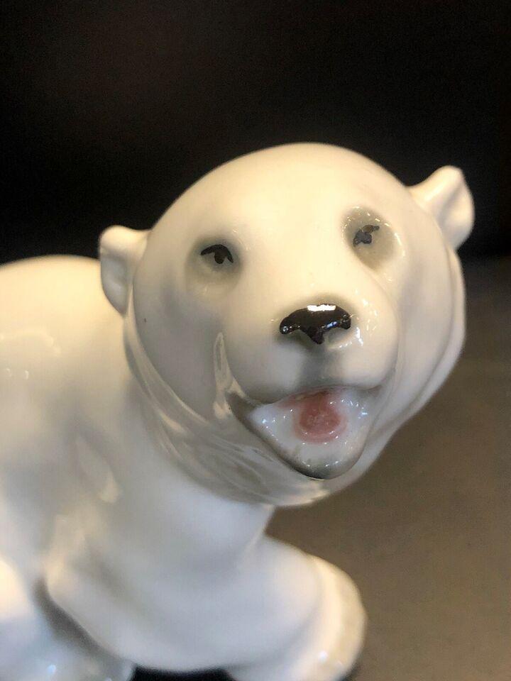 Porcelæn, Figur - isbjørn - Bjørn , Lomonosov - russisk