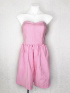 Lilly-Pulitzer-PB-Pink-Lucky-Seersucker-Strapless-Richelle-Dress-Size-4