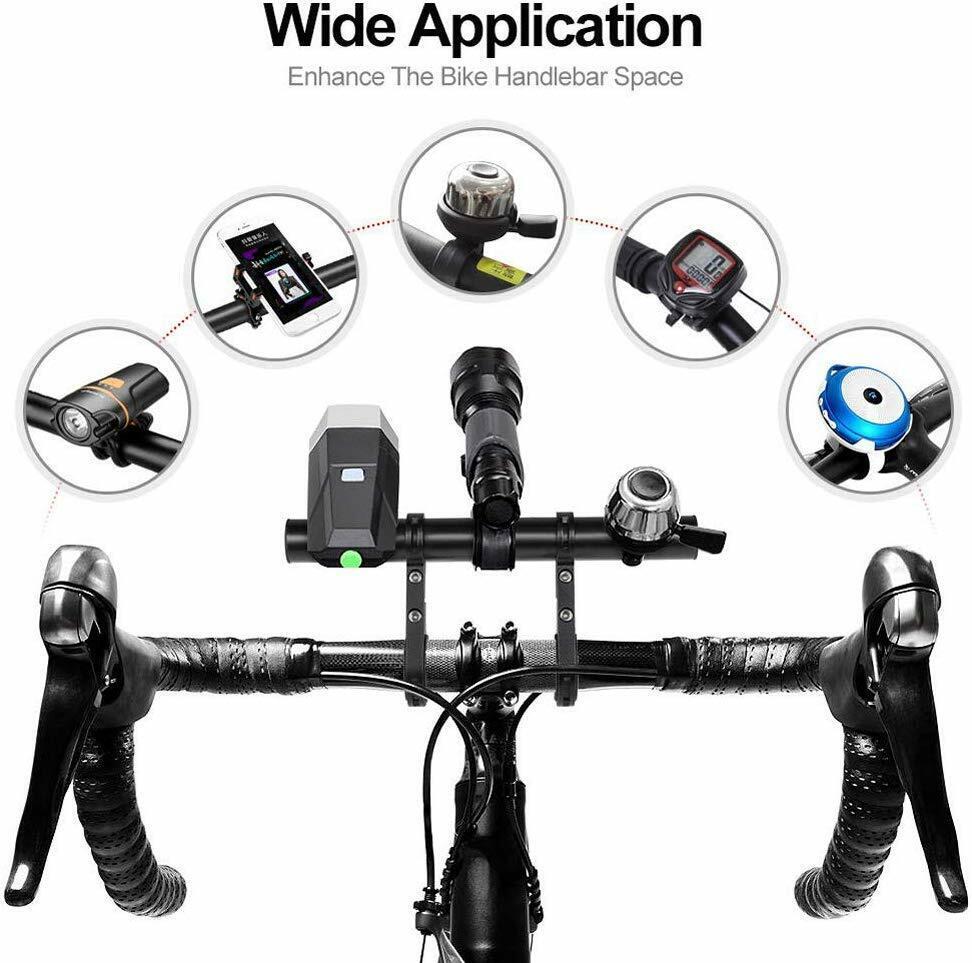 Bike Handlebar Extender Extension Bicycle Bar Mount Headlight GPS Holder Bracket