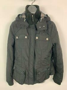 WOMENS-NEXT-BLACK-CASUAL-WINTER-POCKETS-PADDED-HOOD-RAIN-COAT-JACKET-SIZE-UK-14