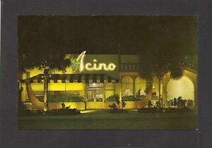 Details About Postcard Acino Restaurant 1010 E Las Olas Blvd Fort Lauderdale Florida
