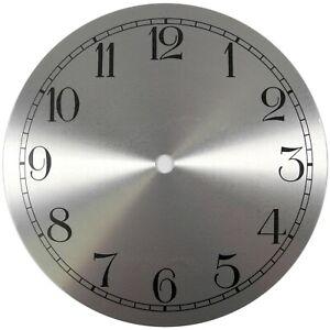 À Tourner Argent De Rechange Horloge Cadran 7 Pouces 175mm Arabe Figurines -