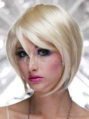Mode Gold Gerade Synthetische Dame Kurz Perücke Wie Echthaar Sexy Wig