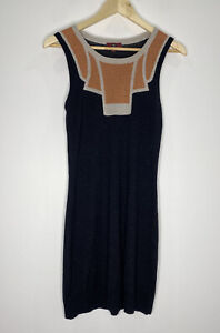 Cue Metallic Knit Midi Dress Size S EUC Casual Corporate