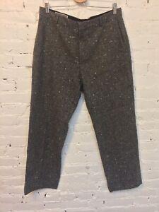 Pierna Ancha Tweed Lana Michael Kors Vestido De Pantalones Gris 36 Italia Ebay