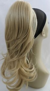 New-20-034-Blonde-Black-Synthetic-Claw-Clip-Ponytail-Layered-Hair-Piece-Approx-220g