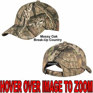 Men's Mossy Oak Break-Up COUNTRY Camo Hat Baseball Cap Hunting Adjustable NEW!