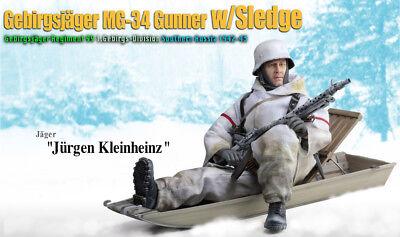 Dragon 1:6 Figure WW2 Germany Winter Snow Gebirgsjager Equipment Sledge 70476 W