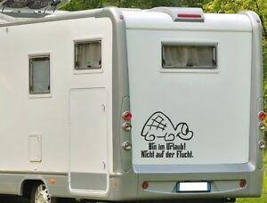 Wohnwagen oder wohnmobil aufkleber für Wohnwagen