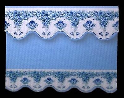 Fashion Style Bel Blu/bianco A Fiori Tenda/tenda Per Dolls House-da Sylvia Rose-mostra Il Titolo Originale Adatto Per Uomini, Donne E Bambini