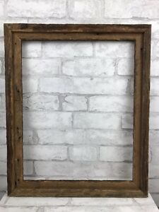 """Vintage Large Rustic Primitive Chic Barn Wood Frame Exposed Nails Fits 15x19"""""""