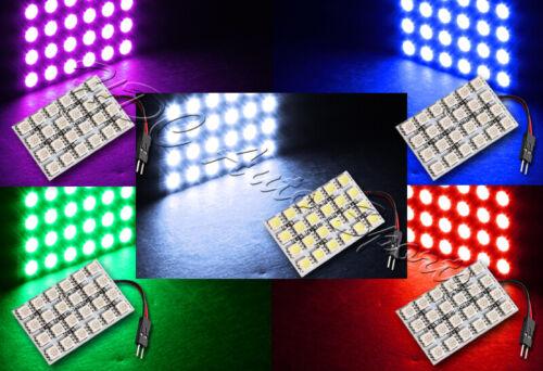 47mm x 30mm 24 SMD LED Panel Interior Dome//Map Light W// T10+Festoon+BA9S-Purple