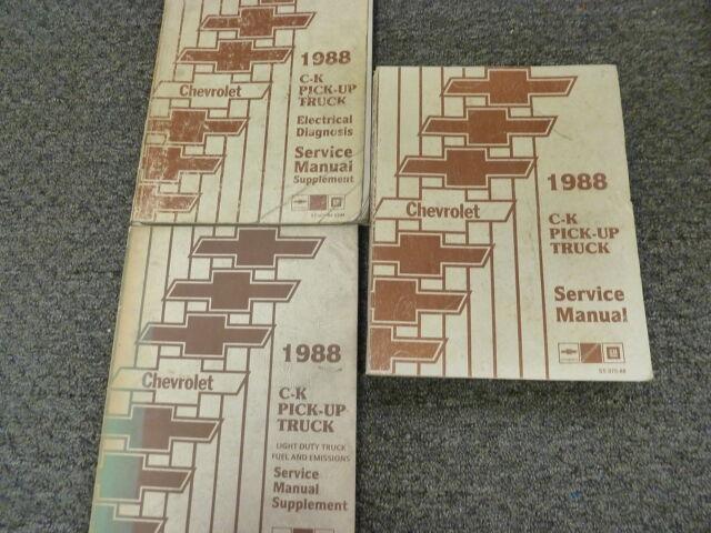 1988 Chevy Silverado C1500 C2500 C3500 K1500 K2500 Truck Service Repair Manual