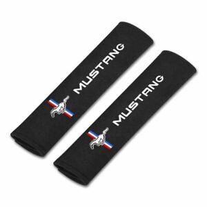 Seat Belt Pads - Mustang Tri-Bar Logo * Comfort & Style! FREE USA SHIPPING!