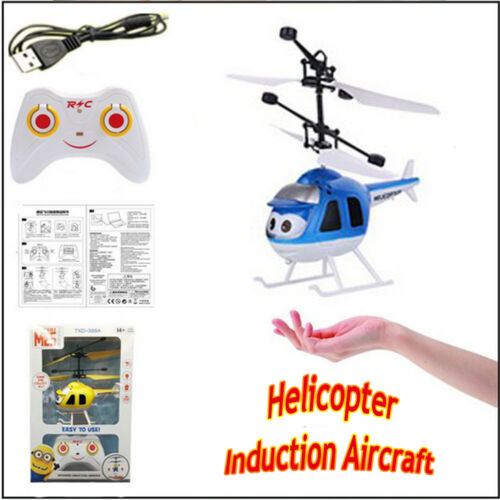 Electric RC Helicopter Induction Aircraft Flying Led Flash Light Mini Kids Toy