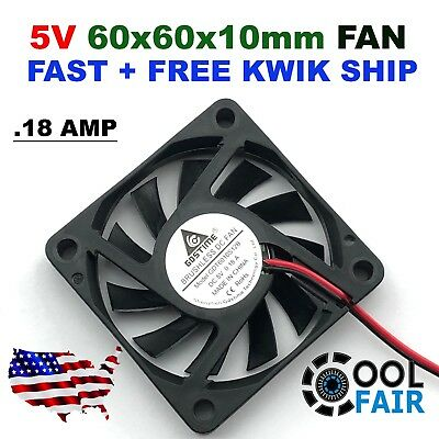 Pack of 2Pcs WINSINN 60mm USB Fan 5V Brushless 6025 60x25mm for Cooling DIY PC Computer Case CPU Coolers Radiators