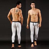 Winter Warm Men Slim Modal Elastic Underwear Thermal Pant Long John Leggings B25
