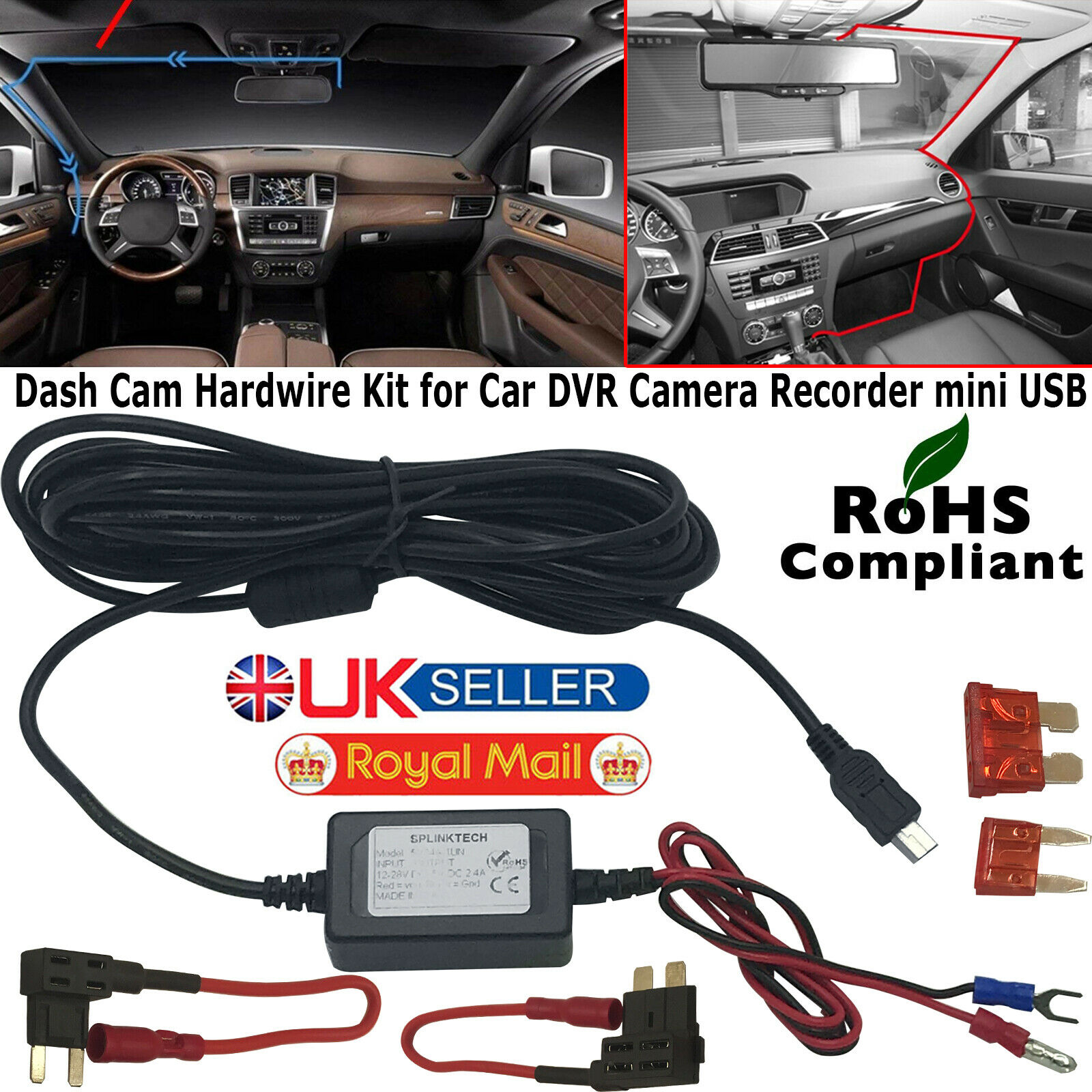 Cam Hardwire Kit Dash Cams Mini Usb