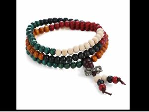 Sautoir Homme Bouddhiste Sur Bracelet Collier Mala Multicolor Perles Chapelet Détails Pierre 34LARq5j