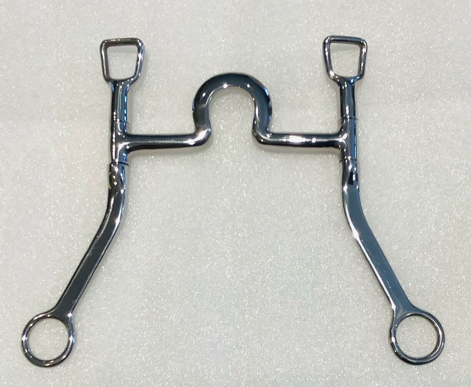 """Jointed 5"""" Snaffle Bit Horse Tack Swivel Cheeks Stainless Steel Long Shank"""