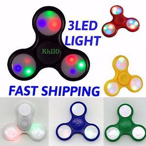 LED-Lighting-Fidget-Hand-Spinner-Finger-Game-Kids-Adults-Fun-Toy