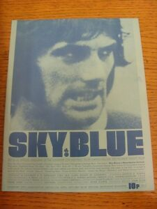 13-04-1971-Coventry-City-v-Manchester-United-folded-team-changes-Footy-Prog