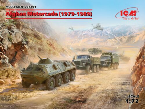 ICM DS7201 Afghan Motorcade in 1:72 4 Vehicles 1979-1989