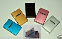 ALUMINIUM Metall Zigaretten Etui Box Zigarettendose