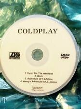 COLDPLAY DVD 4 videos :  Birds Adventure of a Lifetime Hymn for the weekend