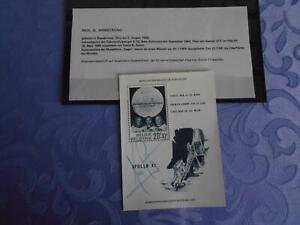 Apollo 11 Sheet original signiert Neil Armstrong Space