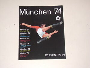 PANINI-WORLD-CUP-MUNICH-1974-ALBUM-OFFCIAL-REPRINT-100-complete
