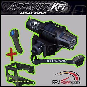 100% De Qualité Neuf Kfi 5000 Lb Large Utv Treuil & Montage 2002-2005 Polaris Ranger 500 DernièRe Mode