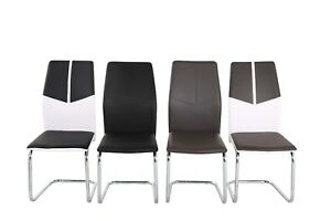 Vienna-Chrome-Frame-Faux-Leather-Dining-Kitchen-Chairs-in-Grey-Black-mxd-white