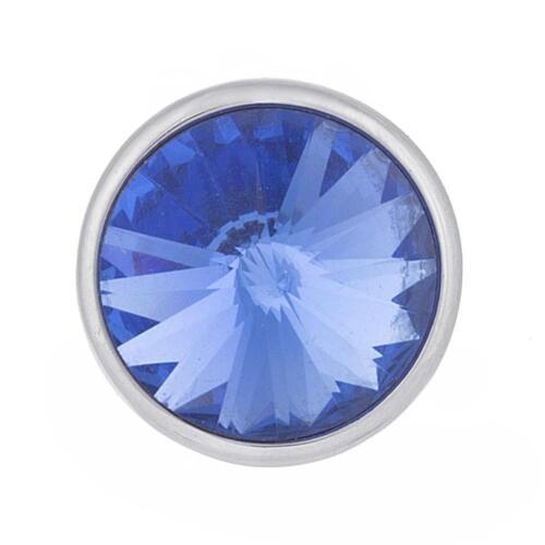 Click Button Mini Petite Rivoli versilbert 5588 kompatibel Chunk-Systemen 12mm