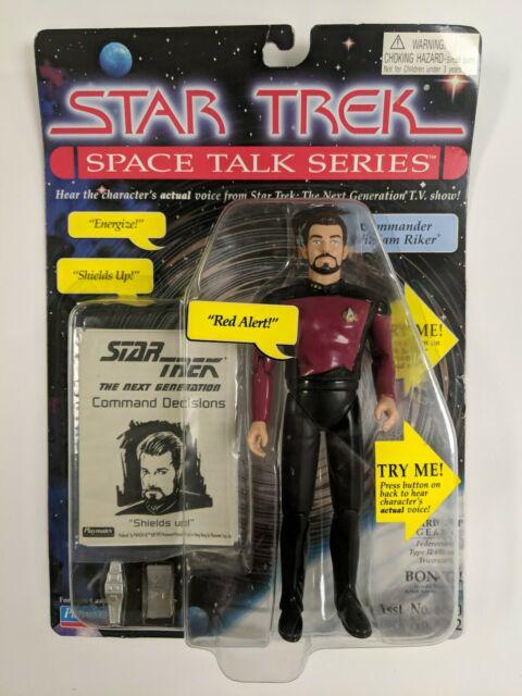 1995 Star Trek Space Talk Series. Admiral Riker Playmates Tested - Works NIB
